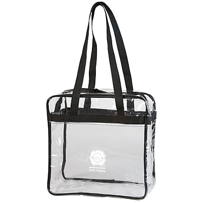 K1C2 Knit Happy Tote, Clear (KH140)