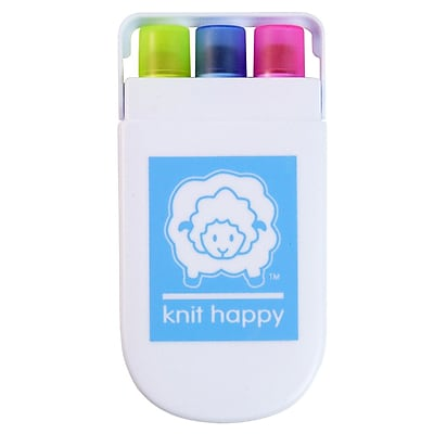 K1C2 Knit Happy Gel Highlighters, Pink/Blue/ellow