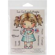 """La-La Land Crafts 4"""" x 3"""" Cling Mount Rubber Stamps"""