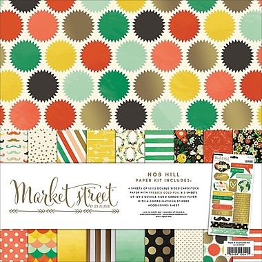 My Mind's Eye Market Street Paper and Accessories Kit, 14
