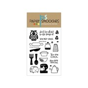 "Paper Smooches 4"" x 6"" Clear Stamp, Kitschy Kitchen"