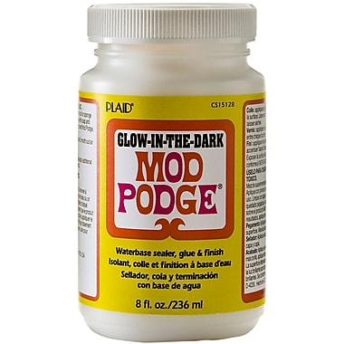 Plaid:Craft Mod Podge Non-toxic 8 oz. Glow-in-the-Dark, (CS15128)