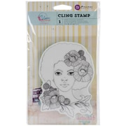 "Prima Marketing Bloom 4"" x 6"" Cling Rubber Stamp, Girl Joy"