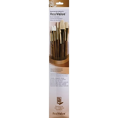 Princeton Artist Brush RealValue Long Handle Brush Sets, 6/Pack (P9148)