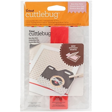 Provo Craft Cuttlebug A2 Embossing Folder/Border Set, Ben-Day Dots