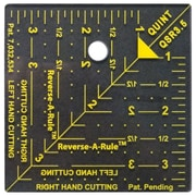 "Quint Measuring Systems™ Reverse-A-Rule™ Designer Series 3 1/2"" x 3 1/2"" Square Ruler"