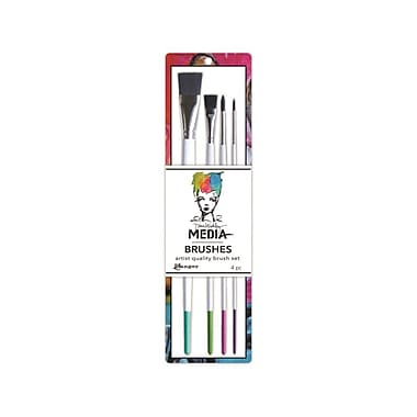 Ranger Dina Wakley Media Stiff Bristle Paint Brush, 4/Pack (MDA41627)