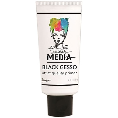 Ranger Dina Wakley Media 2 oz. Gesso Gel Media Tube, Black