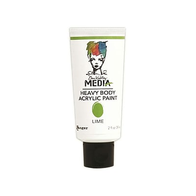Ranger Dina Wakley Media Heavy Body 2 oz. Acrylic Paint, Lime