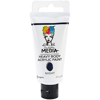 Ranger Dina Wakley Media Heavy Body 2 oz. Acrylic Paint, Night