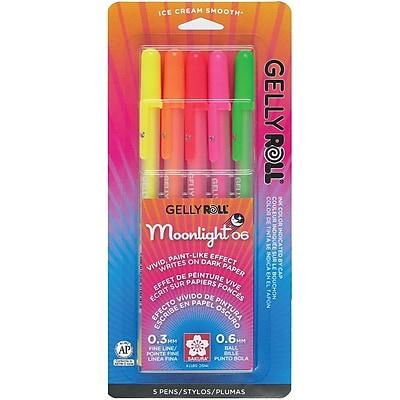 Sakura® Blister Card Gelly Roll® Moonlight® 06 Fine Point Gel Ink Pen Set, ASRTD Dawn Colors