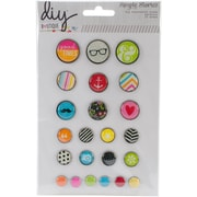 Simple Stories DIY5127 Assorted DIY Boutique Decorative Brads, 28/Pack