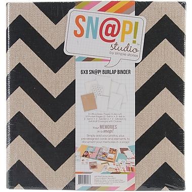 Simple Stories Sn@p! 5-Inch D 2-Ring Binder, Black (SNAP6X8B-4077)