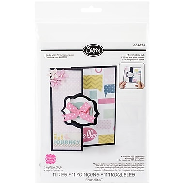 Sizzix® Framelits Die Set, Royal Flip Its Card