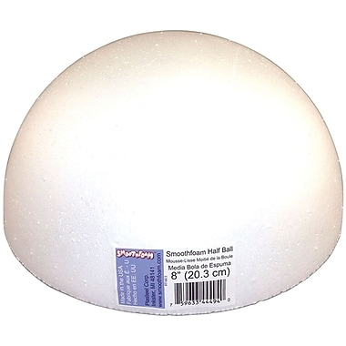 Smoothfoam RT180.5 Foam White Half Ball, 8