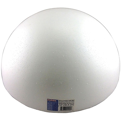 Smoothfoam RT182.5 Foam White Half Ball, 12