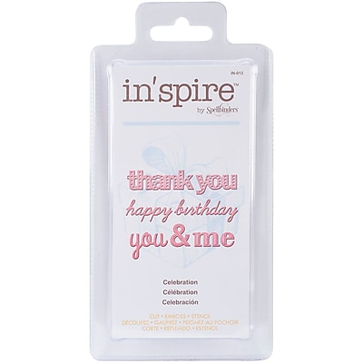Spellbinders® Shapeabilities® In'spire Die Templates, Celebration