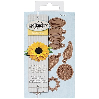 Spellbinders® Shapeabilities® Die D Lites™ Die Templates, Create A Sunflower