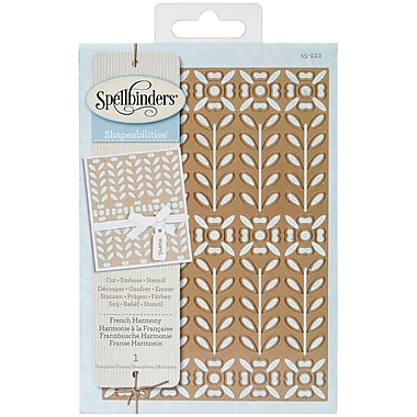 Spellbinders® Shapeabilities® Expandable Pattern Die Templates, French Harmony