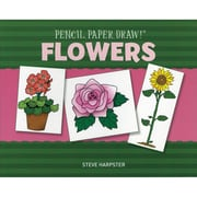"""Sterling Publishing """"Pencil, Paper, Draw!®: Flowers"""" Book"""