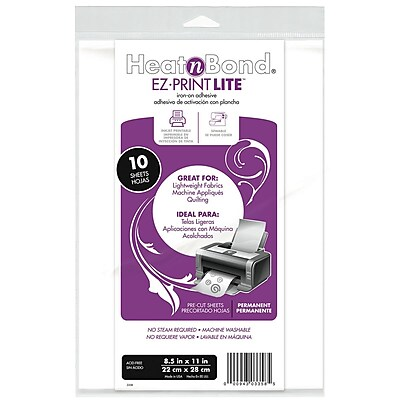 Thermoweb HeatnBond EZ Print Lite Sheets, 10/Pack