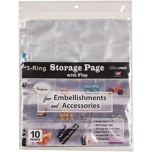 Ultra Pro 3 Hole Refill Pages 10pack Staples