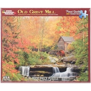 """White Mountain 1000-Pieces Jigsaw Puzzle, 24"""" x 30"""", Old Grist Mill"""