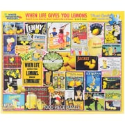 """White Mountain 1000-Pieces Jigsaw Puzzle, 24"""" x 30"""", When Life Gives You Lemons"""