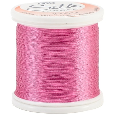 YLI Corporation #100 Weight Silk Thread, 200 m, Rose