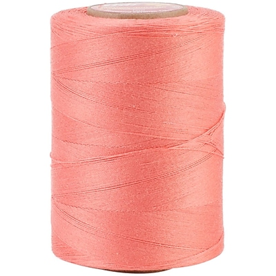 YLI Corporation Star Mercerized 3 Ply Solids Cotton Thread, 1200 Yds, Flamingo (V37-239)