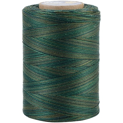 YLI Corporation Star Mercerized 3 ply Variegated Cotton Thread, 1200 Yds, Everglades