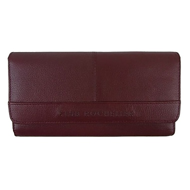 Club Rochelier Clutch Wallet With Checkbook & Gusset, Red