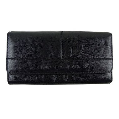 Club Rochelier Clutch Wallet With Outside Pocket, Black