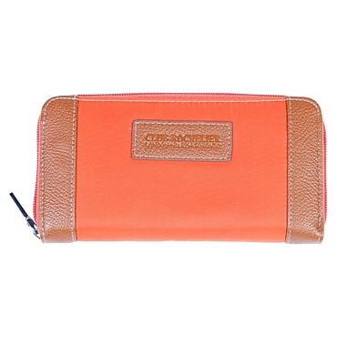 Club Rochelier Zippered Round Clutch, Orange