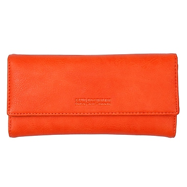 Club Rochelier Ladies Slim Clutch With Removable Coin Purse, Orange
