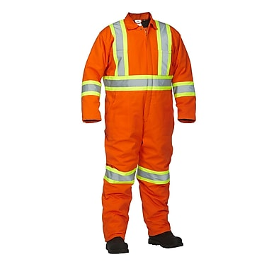 Forcefield Lined Safety Coverall, Orange, Medium