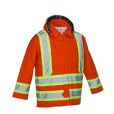 Forcefield Lined Safety Parka, Orange, Medium