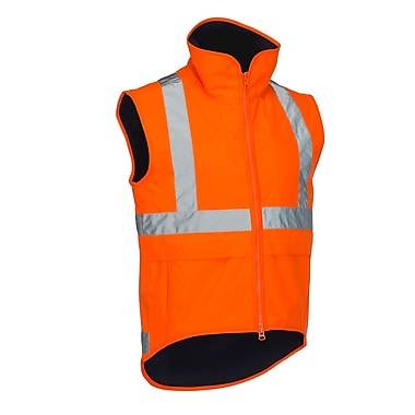 Forcefield Lined Safety Vest, Lime, Large