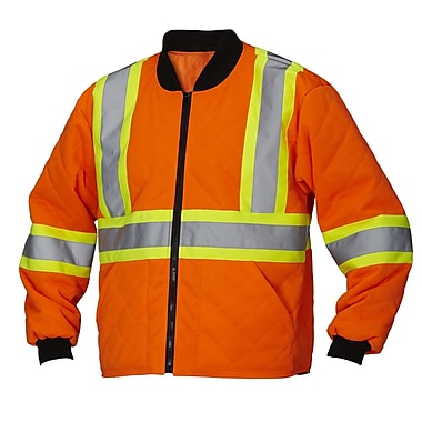 Forcefield Safety Freezer Jacket, Lime, Small