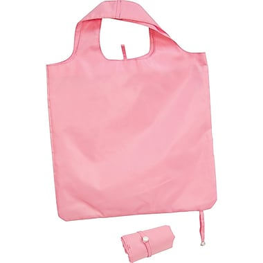 Packable Polyester Tote Bag, Pink, 16