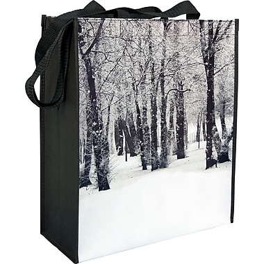 Winter Forest Laminated Non-woven Reusable Bag, 16