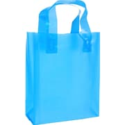 """Gunther Mele Ltd. Frosted Bright Translucent Bag, 8"""" x 4"""" x 10"""" x 4"""", 250/Case"""