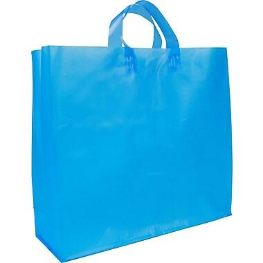 Sac givré translucide de couleur vive , 18 x 6 x 16 x 6 (po), bleu, bte/200