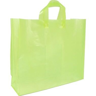 Sac givré translucide de couleur vive , 18 x 6 x 16 x 6 (po), vert, bte/200