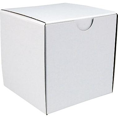 Boîte pliante, 4 po x 4 po x 4 po, blanc, bte/100