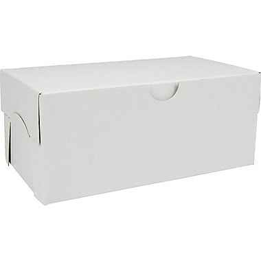 Boîte pliante, 7 po x 4 po x 3 po, blanc, bte/100