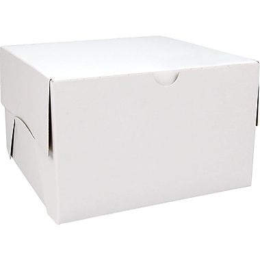 Boîte pliante, 8 po x 8 po x 5 po, blanc, bte/100