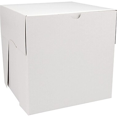 Boîte pliante, 8 x 8 x 8 (po), blanc, bte/50