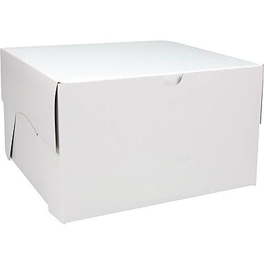 Boîte pliante, 12 po x 12 po x 6 po, blanc, bte/50