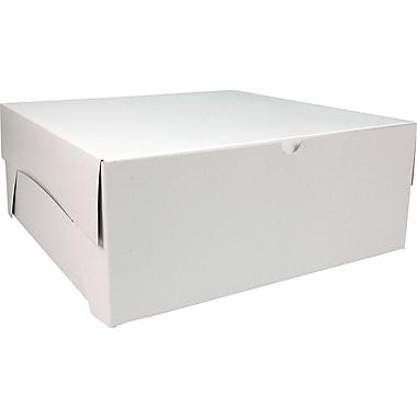 Boîte pliante, 15 po x 15 po x 6 po, blanc, bte/50